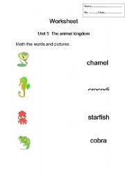 English Worksheets: Kids math words