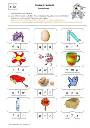 English Worksheets: I Know My Phonics: Ending Sounds 6/12