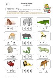 English Worksheets: I Know My Phonics: Ending Sounds 7/12