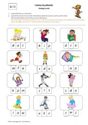 English Worksheets: I Know My Phonics: Ending Sounds 8/12