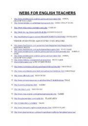 English Worksheets: 66 USEFUL WEBSITES FOR TEACHERS