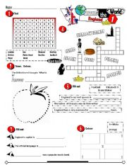 English Worksheet: Around The World Series_06 England