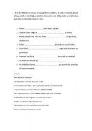 English Worksheets: fill blanks
