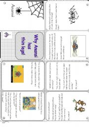 English Worksheets: Why Anansi has thin legs