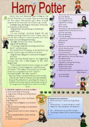 English Worksheets: Harry Potter in the library