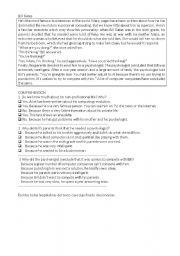 English Worksheets: comprenhension