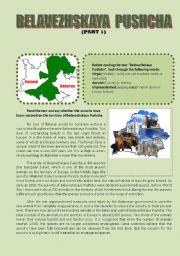 English Worksheets: Belavezhskaya Pushcha