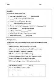 English Worksheets: Literacy worksheet