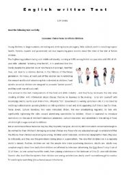 English Worksheet: 11th Grade Test - Consumerism