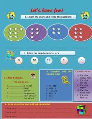 English worksheet: Let´s have fun!