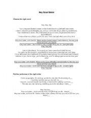 English Worksheets: Song Worksheet