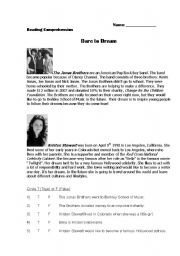 English Worksheets: DARE TO DREAM - READING COMPREHENSION