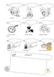 English Worksheet: cooking verbs PART II