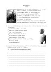 English Worksheet: Will..I robot