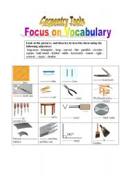 English Worksheet: Carpentry tools: Technical English