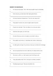English Worksheet: if clause and wish clause rewrite exercises