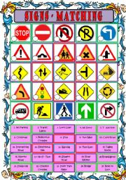 Printables Traffic Signs Worksheets english teaching worksheets traffic signs signs
