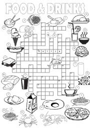 Food & Drinks Crossword