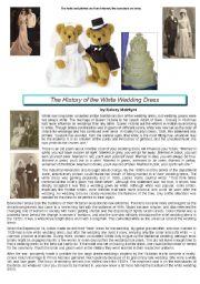 white wedding dress history