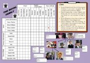 LOGIC GAME : THE ROYAL FAMILY  **Editable+Key Answers**