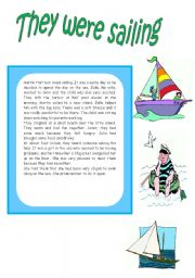 English Worksheets: THEY WERE SAILING