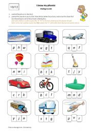English Worksheets: I Know My Phonics: Ending Sounds 10/12