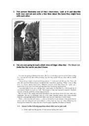 English Worksheet: Edgar Allan Poe «The Black Cat» 2