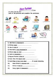 English Worksheets: Stars pastimes