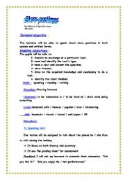 English Worksheet: stars pastimes lesson plan