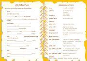 English Worksheet: CV & job interview + TENSE REVIEW