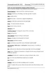 English Worksheets: Outnumbered (1 of 2) TV Series S01 E01 first 30 min aprox
