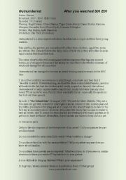 English Worksheets: Outnumbered (2 of 2) TV Series S01 E01
