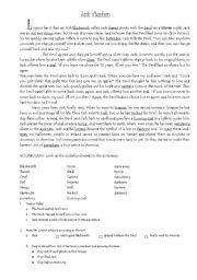 English Worksheets: Jack O´Lantern