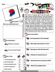 English Worksheet: RC Series_Level 01_Country Edition_69 South Korea (Fully Editable + Key)