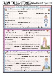English Worksheet: Fairy Tales/Stories (27): Conditionals Type 3
