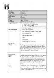 English Worksheets: Art lesson