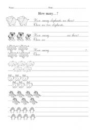 English Worksheets: writing: How many...?