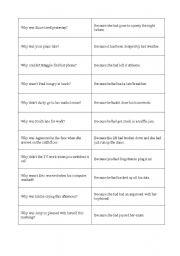 English Worksheets: matching