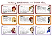 English Worksheets: Family problems - role play