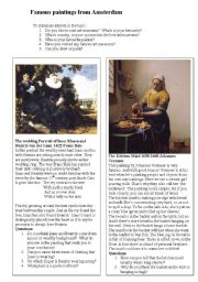 English Worksheets: Famous Paintings from Amsterdam