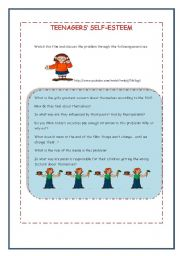 Worksheets Self Esteem Worksheets For Teens english worksheet self esteem