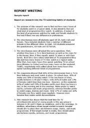 English Worksheet: Report writing worksheet