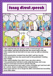 English Worksheet: funny direct speech