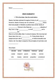 English Worksheets: What is Beauty