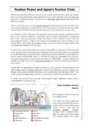 English Worksheet: Nuclear power and Japan�s nuclear crisis