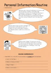 English teaching worksheets: Personal information