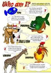 English Worksheet: ANIMAL FACTS (Part 2)