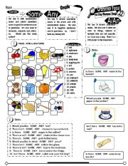 English Worksheet: Grammar Focus Series_22 A AN SOME ANY (Fully Editable+ Key)