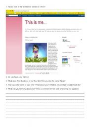 English Worksheets: Greetings / Family - This is me, Amy