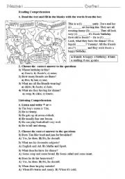 Worksheet Auditory Comprehension Worksheets english worksheets listening comprehension page 14 reading comprehension